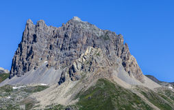 Le Grand Seru. Summer image of Le Grand Seru2889m located in Etroite Valley in Hautes-Alpes, France Stock Photography
