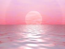Le grand soleil rouge illustration libre de droits