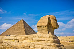 Le grand sphinx à Gizeh Photo libre de droits