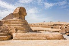 Le grand sphinx du plan rapproché de Gizeh photographie stock