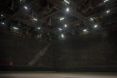 Le grand studio pour font l'ensemble dans l'image de film Photos libres de droits
