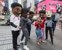 Le grand tournoi du basket-ball 10 vient à New York Image libre de droits