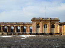 Le Grand Trianon in the park of the Palace of Versailles in wint Stock Photos