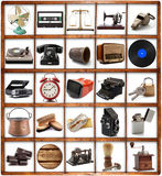Le grand vintage original objecte la collection Photos stock