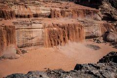 Le grandi cadute del cioccolato di cadute è a nordest dell'albero per bandiera, Arizona Fotografie Stock Libere da Diritti