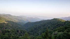 Le grandi montagne fumose Fotografia Stock