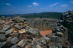 Le grandi rovine dello Zimbabwe. Fotografie Stock