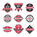 Le graphique de vecteur badges la collection Insignes originaux de vintage illustration stock