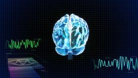 Le graphique en cristal de dos et d'onde de cerveau Photographie stock