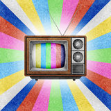 Le graphisme de la télévision (TV) a réutilisé le métier de papier. Photos stock