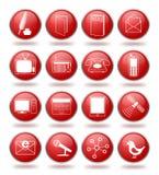 Le graphisme de transmission a placé dans les sphères rouges illustration libre de droits