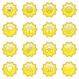 Le graphisme de Web a placé 2 (butto de 16 étoiles illustration libre de droits