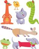 le graphisme a placé sept jouets Image libre de droits
