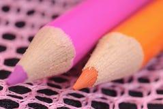 Le graphite crayonne la couleur Images stock