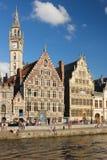 Le Graslei gand belgium Images stock