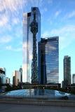 Le gratte-ciel d'hôtel de delta au centre de la ville de Toronto Image stock