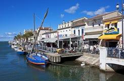 Le Grau-du-Roi kanalhamn Arkivbild