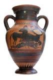 le grec ancien d'amphora d'isolement Photographie stock