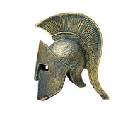 Le grec ancien Spartan Helmet Images stock