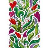 Le griffonnage de vecteur fleurit la frontière sans couture Élément décoratif de style de Zentangle illustration de vecteur