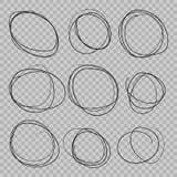 Le griffonnage a esquissé des cercles illustration stock