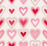 Le griffonnage sans couture pointille le modèle de coeur illustration libre de droits