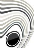 Le gris abstrait ondule la composition Photo libre de droits