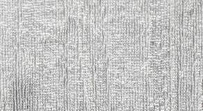 Le gris blanc a employé le fond sale de texture de surface de serviette photos libres de droits