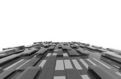 Le gris cube le modèle abstrait de fond Photos libres de droits