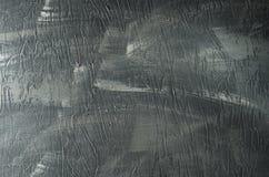 Le gris a peint le fond texturisé concret gris-foncé de brosse rugueuse images stock