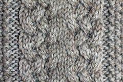 Le gris a tricoté le fil moyen d'épaisseur de fond image libre de droits