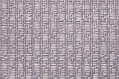 Le gris a tricoté le fond de laine avec un modèle de tissu mou et laineux Texture de plan rapproché de textile Images libres de droits