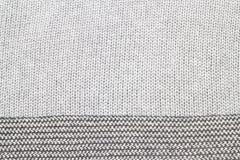 Le gris a tricoté le tissu fait en fond/texture heathered de fil Image stock