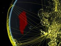 Le Groenland de l'espace avec le réseau photographie stock libre de droits