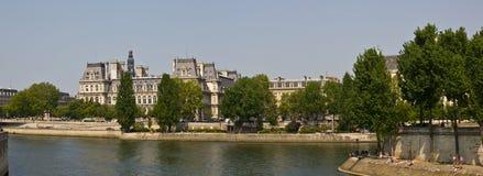 le gromadzka panorama Marais Paris Zdjęcia Stock