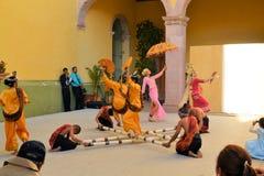 Le groupe canadien-Philippino de danse exécute Image stock