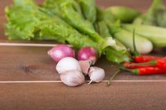 Le groupe de concombres végétaux, aubergines thaïlandaises, longs beens, Winged soit photo stock