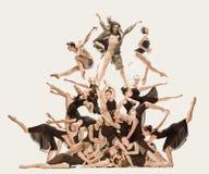 Le groupe de danseurs classiques modernes photographie stock libre de droits
