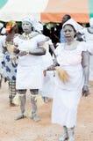 Le groupe de femmes traditionnelles a groupé la danse Photos libres de droits