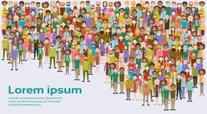 Le groupe de gens d'affaires de grands hommes d'affaires de foule mélangent divers ethnique illustration libre de droits