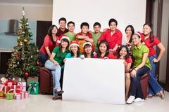 Le groupe de Noël a tiré des gens asiatiques Image stock