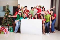 Le groupe de Noël a tiré des gens asiatiques Image libre de droits