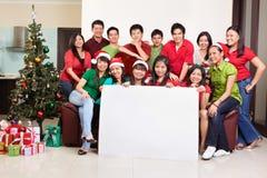 Le groupe de Noël a tiré des gens asiatiques Photo stock