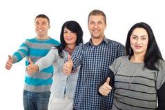 Le groupe de personnes réussi donne des pouces Photos libres de droits