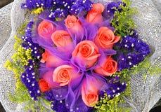 Le groupe de roses rouges Photos stock