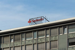 Le groupe de Santander est un groupe d'opérations bancaires espagnol Image stock