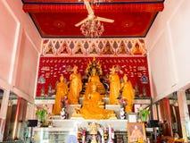 Le groupe de 7 statues de Bouddha appartiennent à 7 jours d'une semaine Images libres de droits