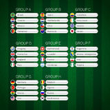 Le groupe du football présente l'infographics d'affiche Photo stock