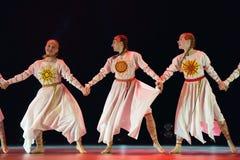 Le groupe ouvert de danse du ` s d'enfants de la danse Festival-2016 exécute slave Photographie stock libre de droits