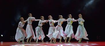 Le groupe ouvert de danse du ` s d'enfants de la danse Festival-2016 exécute slave Images stock